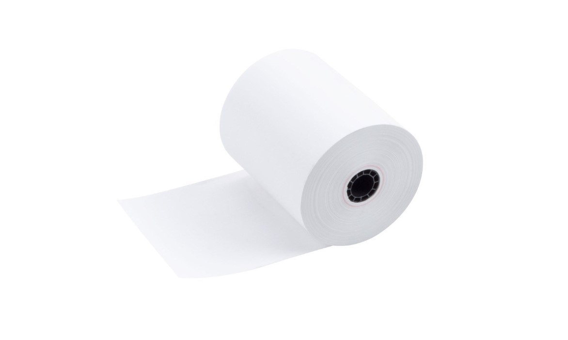 """50 rolls//case 3 1//8/"""" x 230/' Thermal Paper Green"""