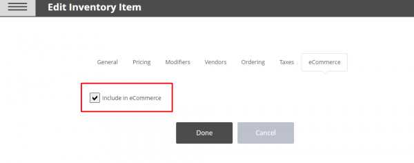 Add Product to Online Site