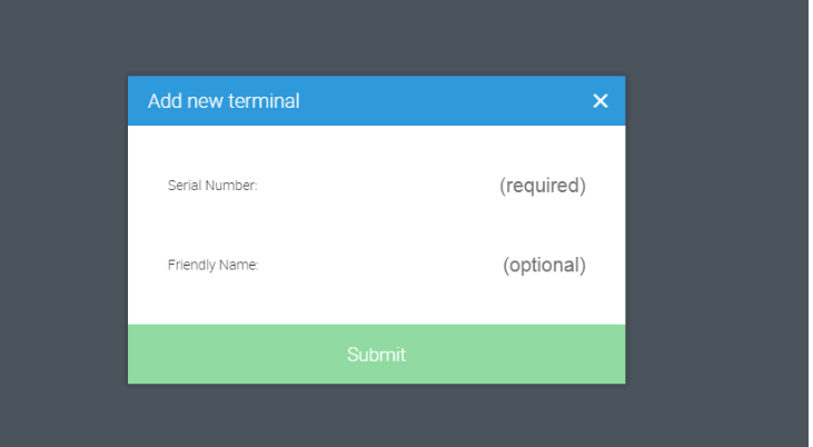 Add new terminal in Ehopper POS