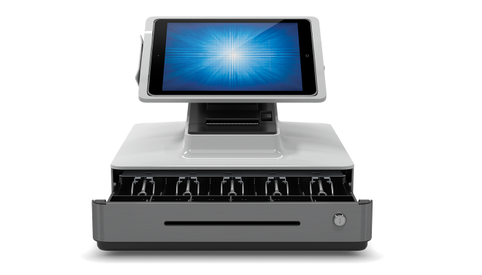 The all-in-one Elo PayPoint Plus for iPad with eHopper POS