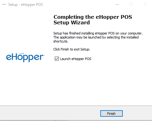 Finish eHopper app for windows install