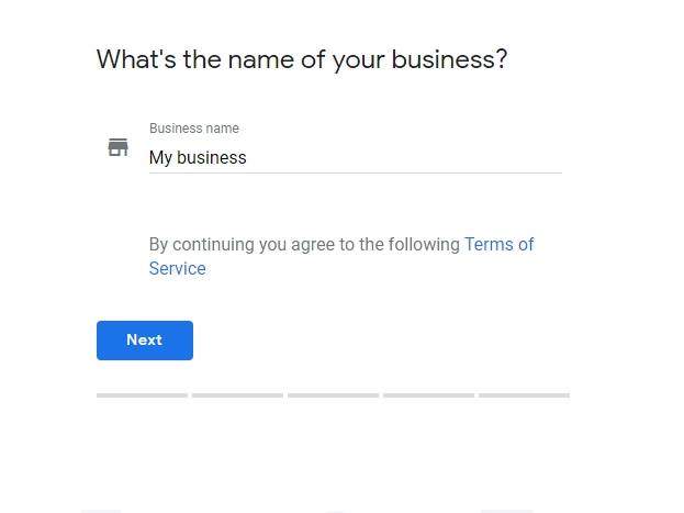 "Sign up for ""Google My Business"" account"