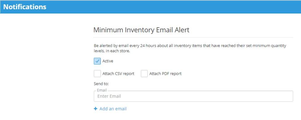 Minimum Quantity Altert Email Notifications
