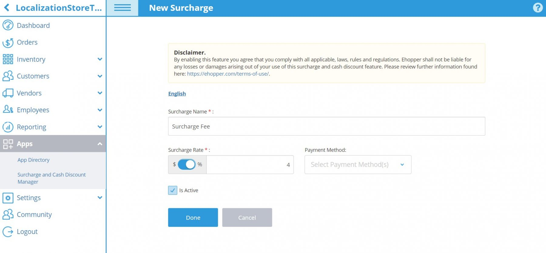 Surcharges ehopper pos surcharges reheart Choice Image
