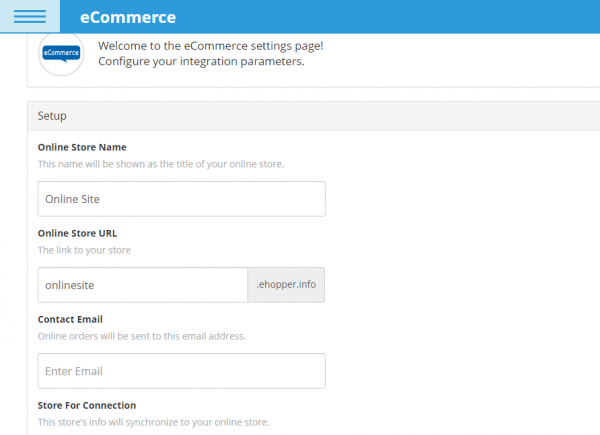 Online Store Configuration