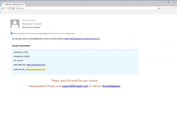 Back Office URL PC POS Set Up