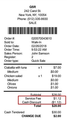 Receipts for Cash Discounts