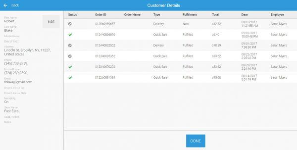 eHopper POS Customer Management