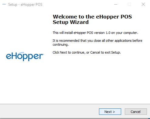 eHopper Setup Wizard for Windows App
