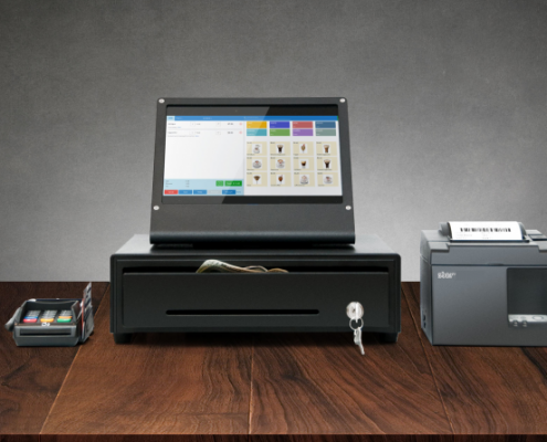 POS system with eHopper and Star Micronics Printer TSP143IIIU