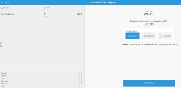 pre-authorize payments